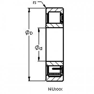AST NU1021 M AST Bearing