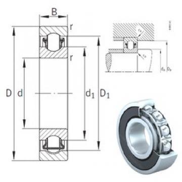 55 mm x 100 mm x 21 mm  INA BXRE211-2RSR INA Bearing