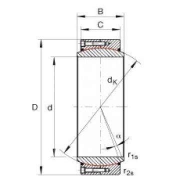 INA GE630-DW-2RS2 INA Bearing