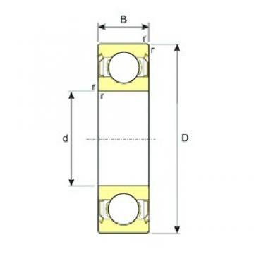 3 mm x 6 mm x 2,5 mm  ISB MR63ZZ ISB Bearing