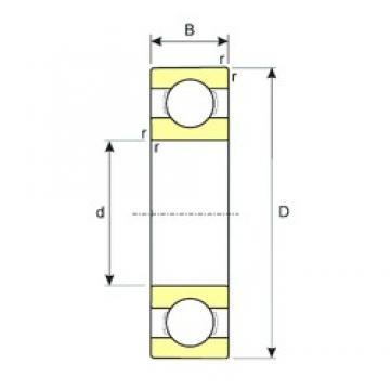 6 mm x 22 mm x 7 mm  ISB 636 ISB Bearing
