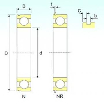 80 mm x 125 mm x 22 mm  ISB 6016 NR ISB Bearing