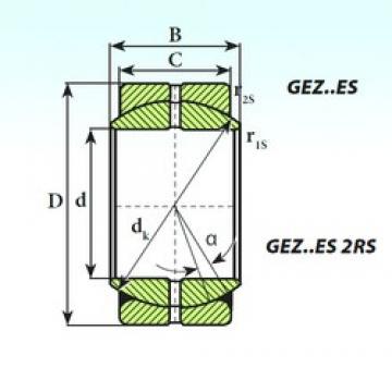 95,25 mm x 149,23 mm x 83,34 mm  ISB GEZ 95 ES ISB Bearing