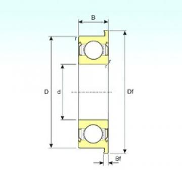 9,525 mm x 22,225 mm x 7,142 mm  ISB FR6ZZ ISB Bearing