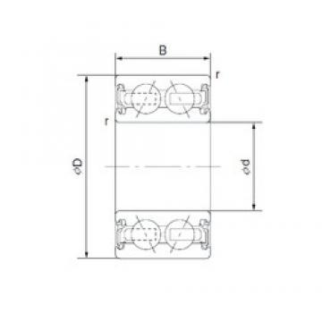 45 mm x 64 mm x 20 mm  CYSD 4609-2AC2RS CYSD Bearing