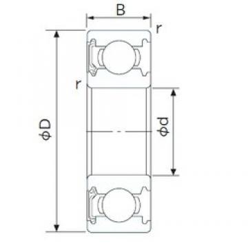 70 mm x 110 mm x 20 mm  CYSD 6014-RS CYSD Bearing