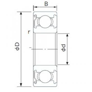 110 mm x 200 mm x 38 mm  CYSD 6222-Z CYSD Bearing