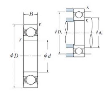 320 mm x 400 mm x 38 mm  NSK 6864 NSK Bearing