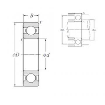 100 mm x 180 mm x 34 mm  NTN 6220 NTN Bearing