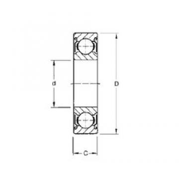 25 mm x 52 mm x 20,6 mm  CYSD W6205-ZZ CYSD Bearing