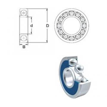 110 mm x 170 mm x 28 mm  ZEN S6022-2RS ZEN Bearing
