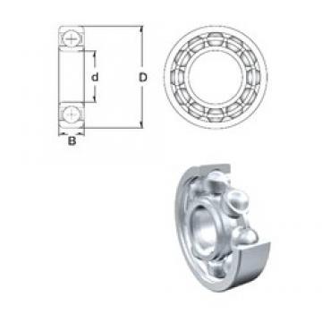 19,05 mm x 47,625 mm x 14,288 mm  ZEN RLS6-2RS ZEN Bearing