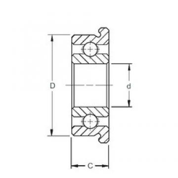 8 mm x 24 mm x 8 mm  ZEN F628 ZEN Bearing