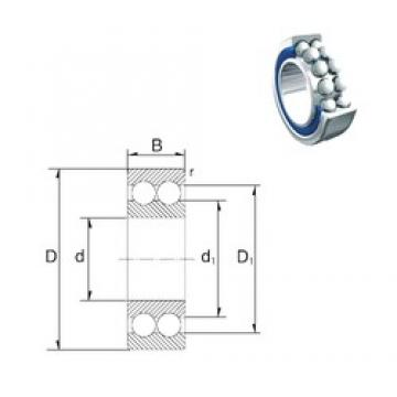30 mm x 72 mm x 30,2 mm  ZEN 5306-2RS ZEN Bearing