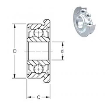 1,984 mm x 6,35 mm x 3,571 mm  ZEN FR1-4-2Z ZEN Bearing