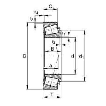 100 mm x 180 mm x 34 mm  FAG 30220-A FAG Bearing
