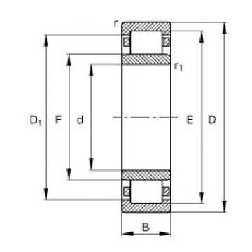 95 mm x 145 mm x 24 mm  FAG NU1019-M1 FAG Bearing
