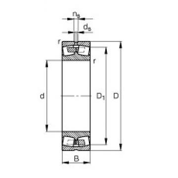 190 mm x 320 mm x 104 mm  FAG 23138-E1A-M FAG Bearing