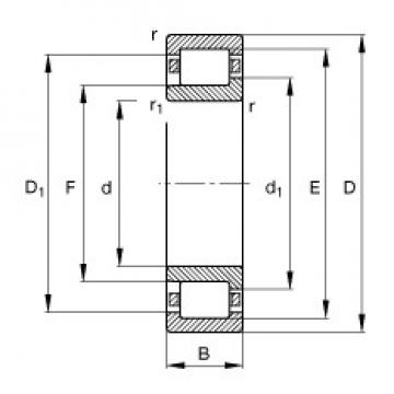 200 mm x 420 mm x 80 mm  FAG NJ340-E-TB-M1 FAG Bearing