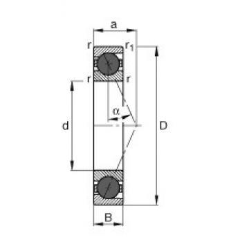 55 mm x 100 mm x 21 mm  FAG HCB7211-E-T-P4S FAG Bearing