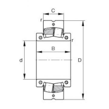 100 mm x 180 mm x 90 mm  FAG 231SM100-MA FAG Bearing