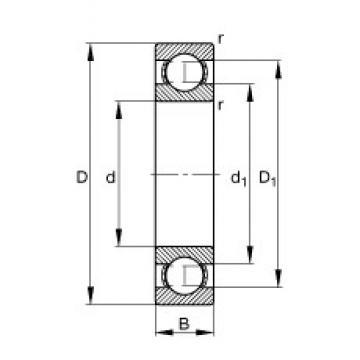 25 mm x 47 mm x 8 mm  FAG 16005 FAG Bearing