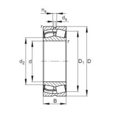 240 mm x 400 mm x 128 mm  FAG 23148-E1 FAG Bearing