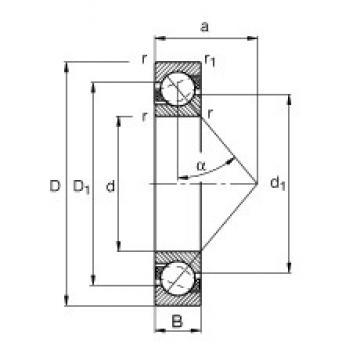 55 mm x 72 mm x 9 mm  FAG 71811-B-TVH FAG Bearing