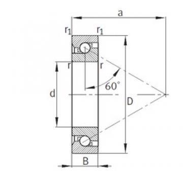 95 mm x 170 mm x 32 mm  FAG 7602095-TVP FAG Bearing