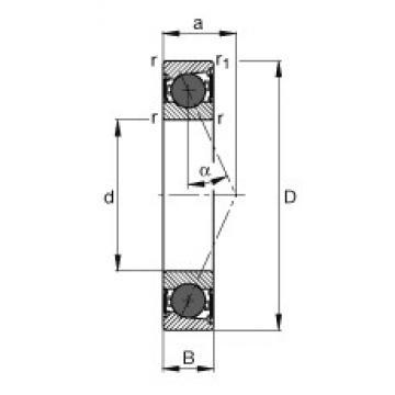 55 mm x 90 mm x 18 mm  FAG HCB7011-E-2RSD-T-P4S FAG Bearing