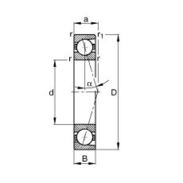 10 mm x 30 mm x 9 mm  FAG B7200-C-T-P4S FAG Bearing