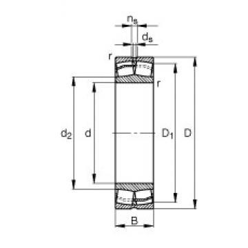 55 mm x 100 mm x 25 mm  FAG 22211-E1 FAG Bearing