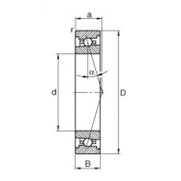 45 mm x 75 mm x 16 mm  FAG HS7009-C-T-P4S FAG Bearing