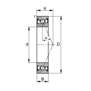 35 mm x 55 mm x 10 mm  FAG HSS71907-E-T-P4S FAG Bearing