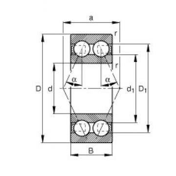 70 mm x 125 mm x 39,7 mm  FAG 3214-B-TVH FAG Bearing
