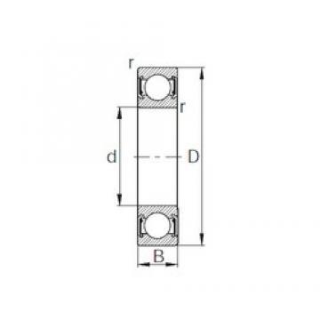 130 mm x 165 mm x 18 mm  CYSD 6826-2RZ CYSD Bearing