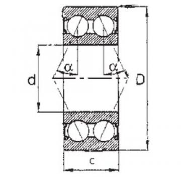 30 mm x 62 mm x 23,812 mm  FBJ 5206-2RS FBJ Bearing