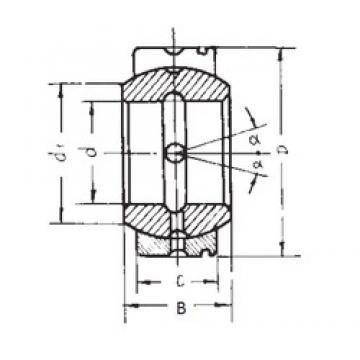 25 mm x 42 mm x 21 mm  FBJ GE25XS/K FBJ Bearing