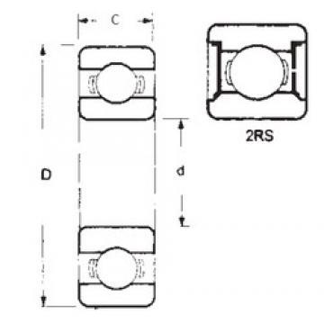 60 mm x 110 mm x 22 mm  FBJ 6212-2RS FBJ Bearing