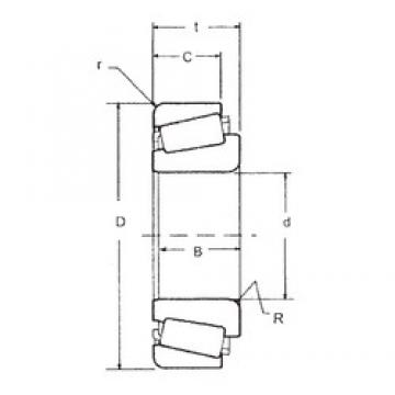 25,4 mm x 56,896 mm x 19,837 mm  FBJ 1780/1729 FBJ Bearing