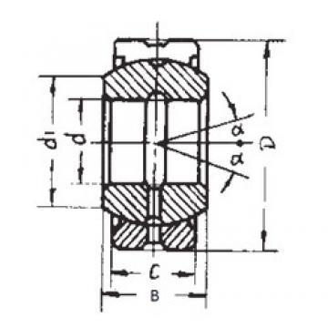 40 mm x 62 mm x 28 mm  FBJ GE40ES-2RS FBJ Bearing