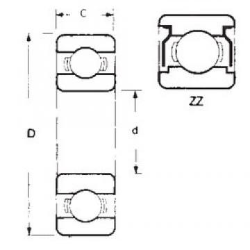 7,9375 mm x 22,225 mm x 7,14248 mm  FBJ 1603ZZ FBJ Bearing