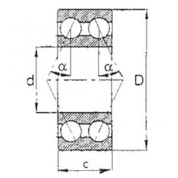 15 mm x 42 mm x 19 mm  FBJ 5302 FBJ Bearing