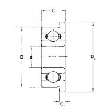 7 mm x 17 mm x 5 mm  FBJ F697 FBJ Bearing