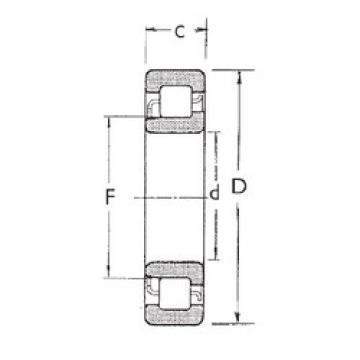 20 mm x 52 mm x 15 mm  FBJ NJ304 FBJ Bearing
