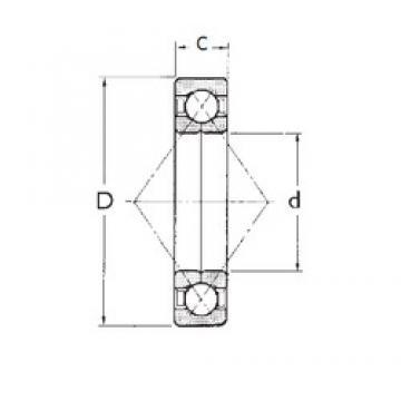 105 mm x 225 mm x 49 mm  FBJ QJ321 FBJ Bearing