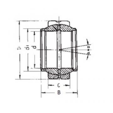 20 mm x 35 mm x 20 mm  FBJ GEEW20ES FBJ Bearing