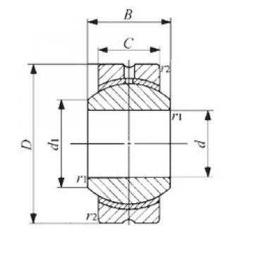 14 mm x 34 mm x 19 mm  IKO PB 14 IKO Bearing