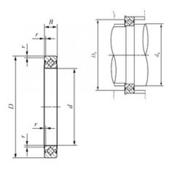 140 mm x 156 mm x 8 mm  IKO CRBS 1408 A UU IKO Bearing