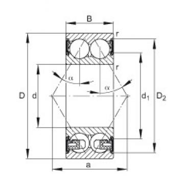 25 mm x 62 mm x 25,4 mm  FAG 3305-BD-2HRS-TVH FAG Bearing